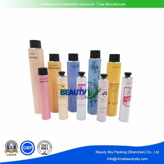 Aluminum tube for cosmetics